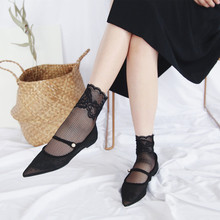 2018 NEW Summer Lace Transparent Short Socks Women Hollow Out Low Socks Fashion Female Fishnet Sock Ankle Socks Hipster So недорого