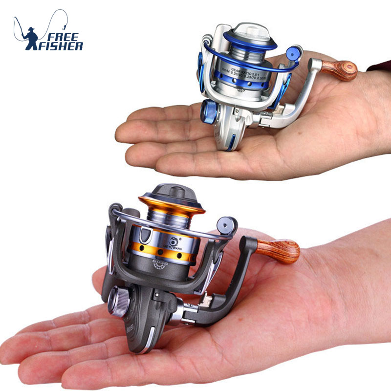 Mini Fishing Reel Palm Size Metal Ultra Light Small Spinning Ice Roller LM