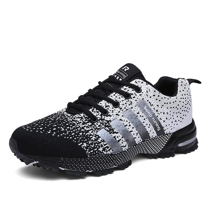 Chaussures de course hommes marque de luxe femmes respirant de haute qualité coloré Couple formateur Sneaker coussin dair chaussures de sport de plein Air