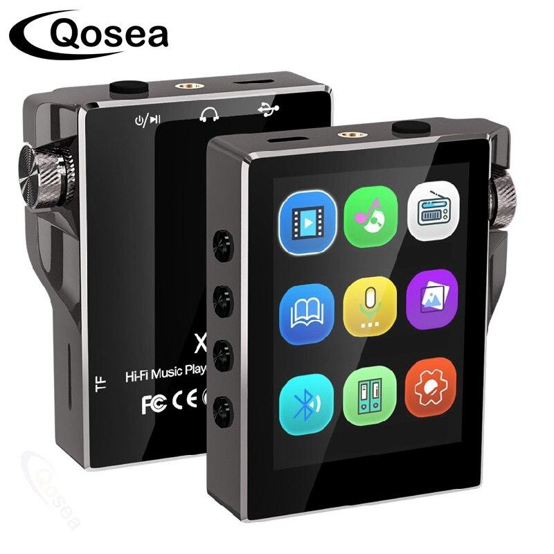 Lecteur MP3 avec Bluetooth 16GB FM Radio HiFi lecteur de musique haute résolution sans perte Audio numérique avec vidéo enregistrement E-Book 8GB