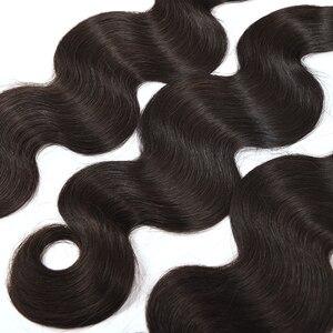 Image 4 - Ali Coco Brazilian Body Wave 4 Bundles Natural color/ #2/ 1/4/27 Brazilian Hair Weave Bundles Non Remy Human Hair Extensions