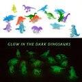 32 Unids 2 pulgadas Mini Noctilucentes Juguetes de Dinosaurios del Jurásico Dinosaurios de Los Niños Brillan En La Oscuridad y Figuras Toilo