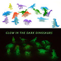 32Pcs 2 inch Mini Jurassic Noctilucent Dinosaur Toys Kids Glow In The Dark Dinosaurs Action & Figures  Toyl