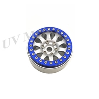 1 Pcs Blue Silver Top Quality Alloy 1 10 RC Crawler 1 9 Beadlock Wheels Rim