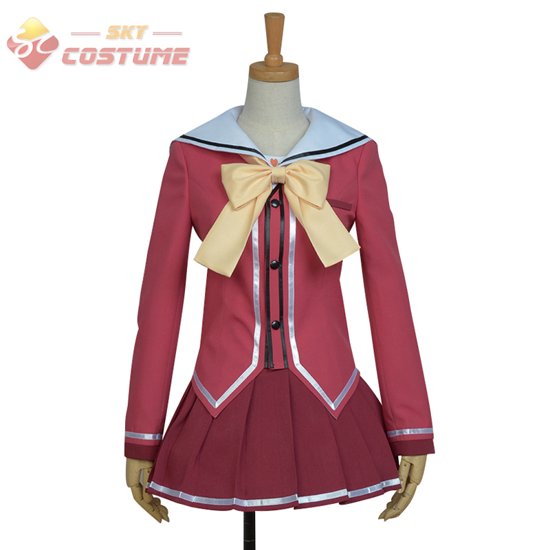 Back To Search Resultsnovelty & Special Use Loyal 2017 New Anime Charlotte Nao Tomori Red School Uniform Cosplay Costume