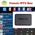 Mag250 Con 1 Año caja IPTV IPTV IPTV caja Francesa de Bélgica Sistema Linux IPTV box Set Top Box MAG254 Mejor que Neotv QHDTV