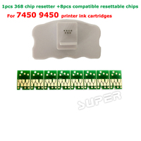 1PCS Chip Resetter For Epson 7450 9450 Printer Cartridge Chips 8pcs Compatible Resettable Chips For Epson