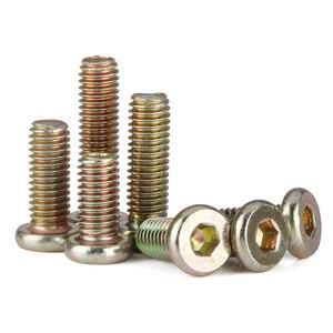 Image 4 - Tornillos de barril M6 M8 para muebles, Tuercas de perno chapadas en Zinc con rosca métrica plana hexagonal