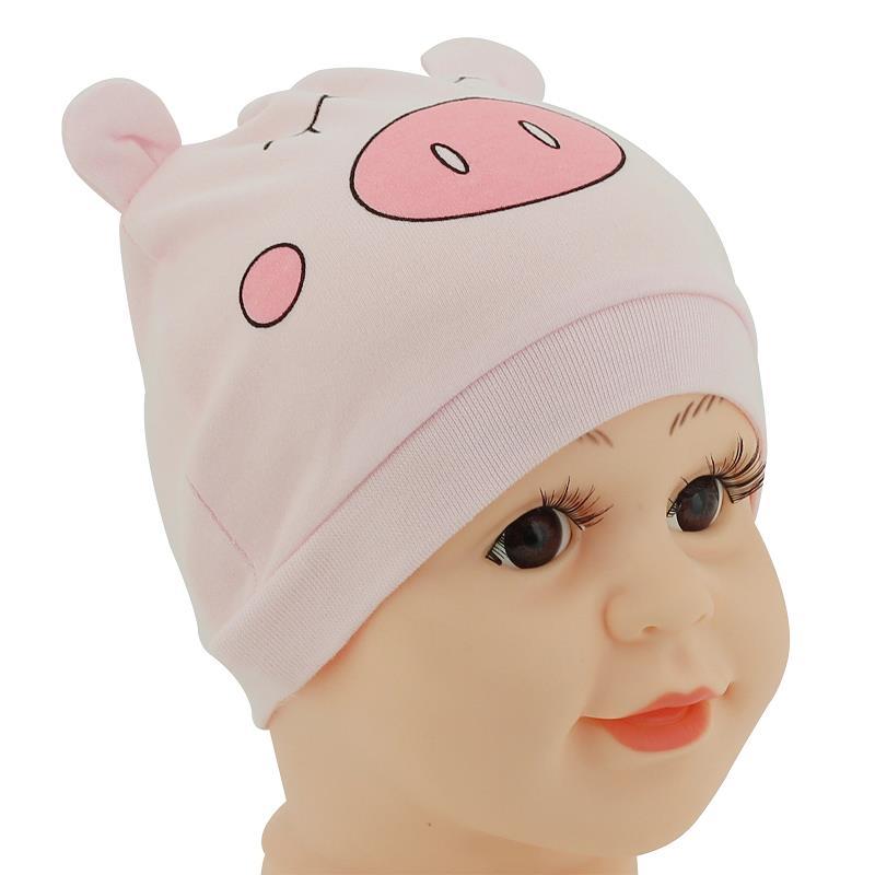1Pcs Baby Hat Pink Pig Newborn Boy Girl Bonnet Accessories Pure Cotton Kids Cap Stuff Newborn Photography Props