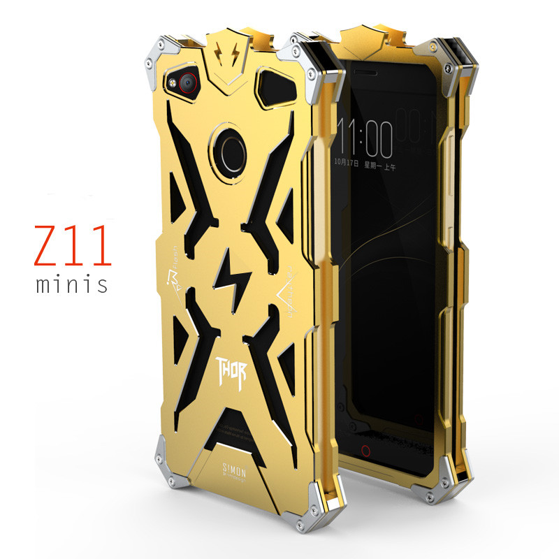 the best attitude 4828d bb176 US $18.79 |SIMON ZTE Nubia Z11 Mini S Case Metal Armor THOR IRONMAN  Aluminum Shockproof Cover Protective Shell Z11 MiniS Phone Housing on ...