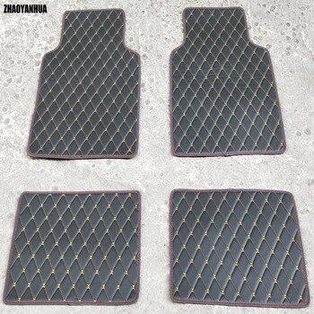 Universal Car Floor Mats For Auto Anti-Slip Mat Red Black Beige Brown Car Floor Mats Car Styling Interior Auto Floor Mats Carpet