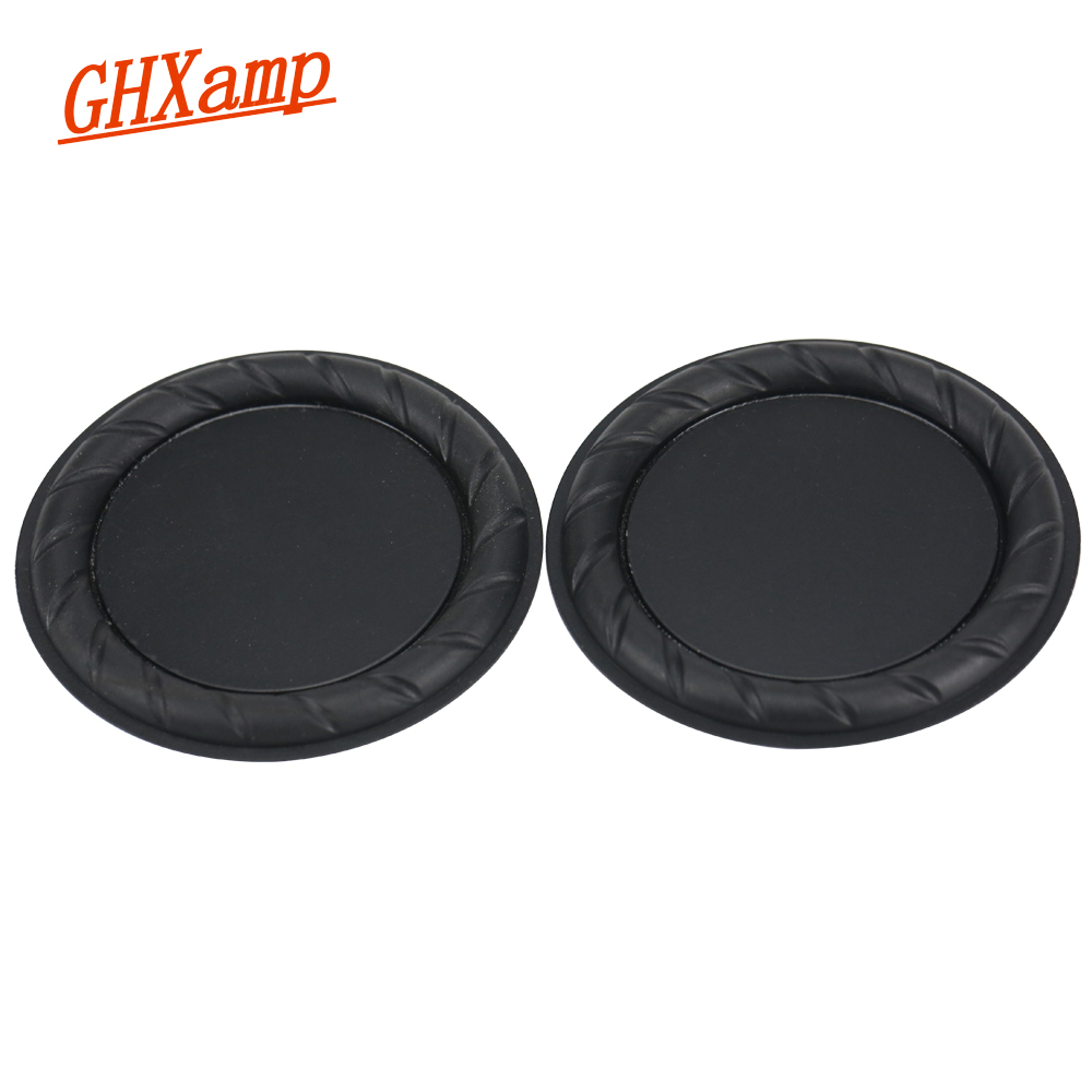 GHXAMP 3.5 Inch 89mm Rubber Vibration Membrane Low Frequency Bass Radiator 2PCS