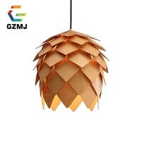 American Country Pendant Light Creative Wood Pendant Lamp Hanging Lamp Nordic Designer Light Art Deco Lighting Luminaire Kitchen