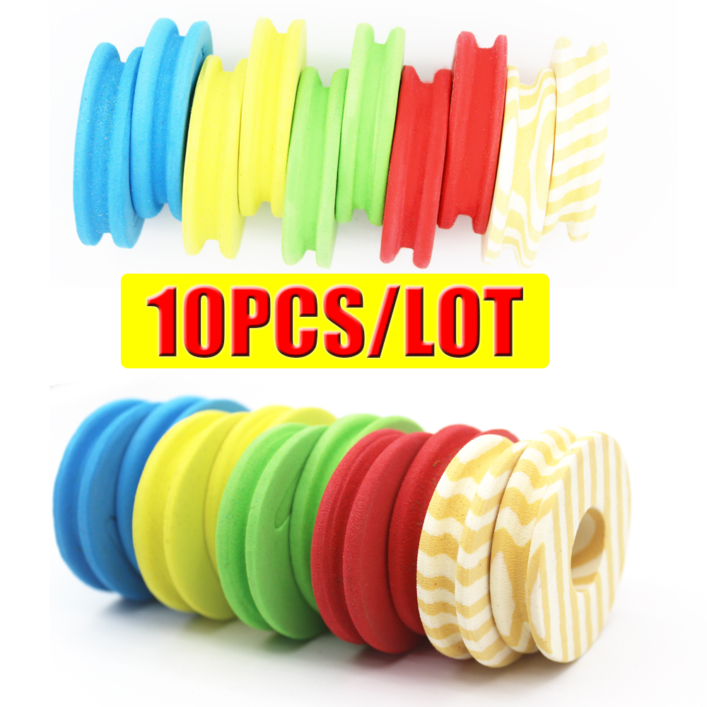 10PCS Fishing Foam Line Spools For Fishing Lines String Bobbin Round Shaped Foam Hook Line Storage Spools Tool Kits