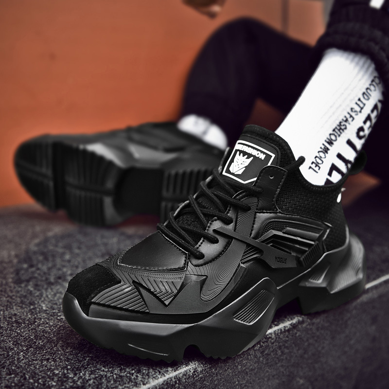 Men Casual Shoes All Black Sneakers
