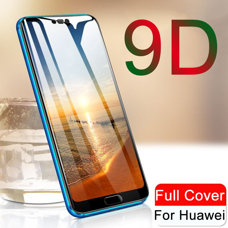 9D for Huawei P20 Glass Screen Protector For Huawei P20 Pro P10 P Smart Plus P8 P9 Lite 2017 PSmart Protective tempered Glass 9H(China)