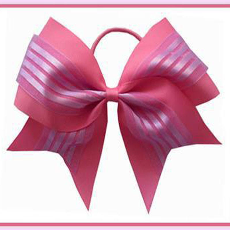 12pcs for Young Women with Colorful Girls Kids Hair Bow Clips Boutique Hair Bow 7 Cheer Leader Bow Elastic