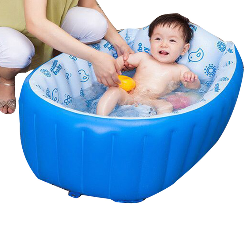 3Colors Folding Inflatable Baby Bath Tub Portable Child tubCushion ...