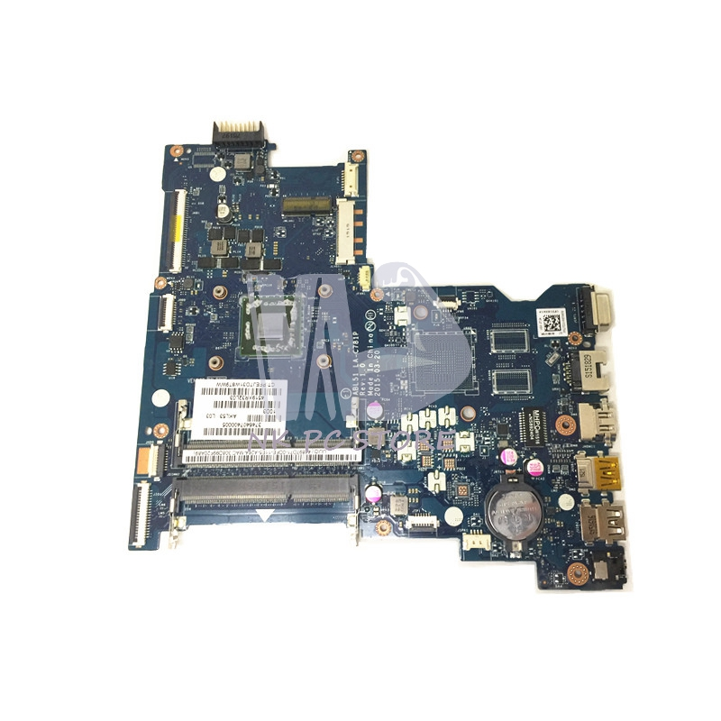 814611-001 818074-001 Main Board For HP 15-AF 15-AF156NR Laptop Motherboard ABL51 LA-C781P DDR3 815248 501 main board for hp 15 ac 15 ac505tu sr29h laptop motherboard abq52 la c811p uma celeron n3050 cpu 1 6 ghz ddr3