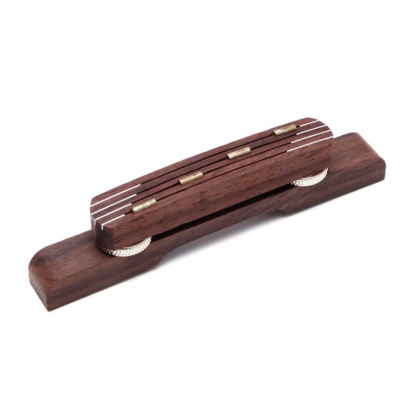 Durable Rosewood Guitar Bridge Mandolin Bridge For Hofner Bass Guitar Adjustable #35/16L
