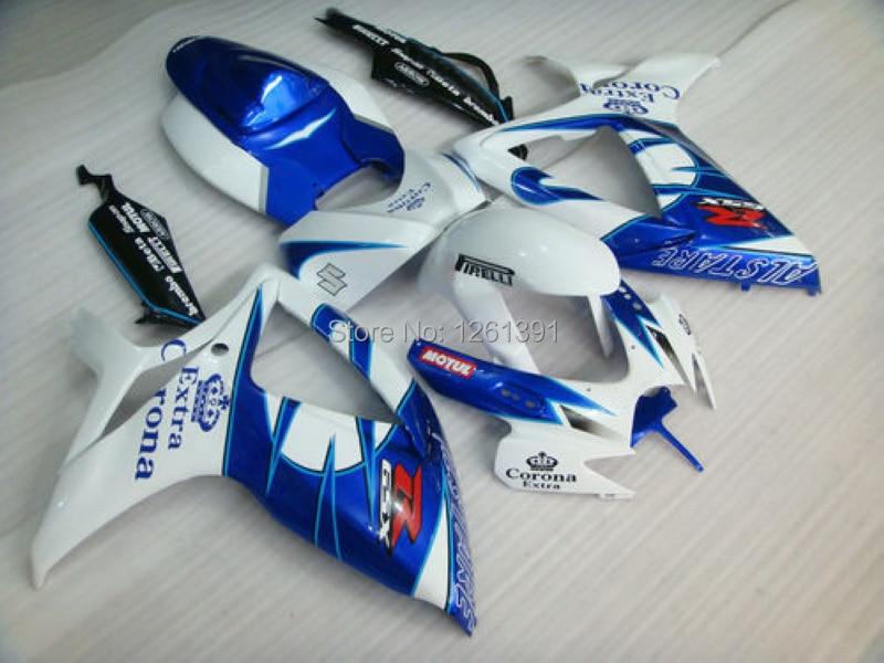 Инъекции для K6 06 07 SUZUKI GSXR750 GSXR-750 GSX-R750 GSXR 750 2006 2007 синий обтекатели