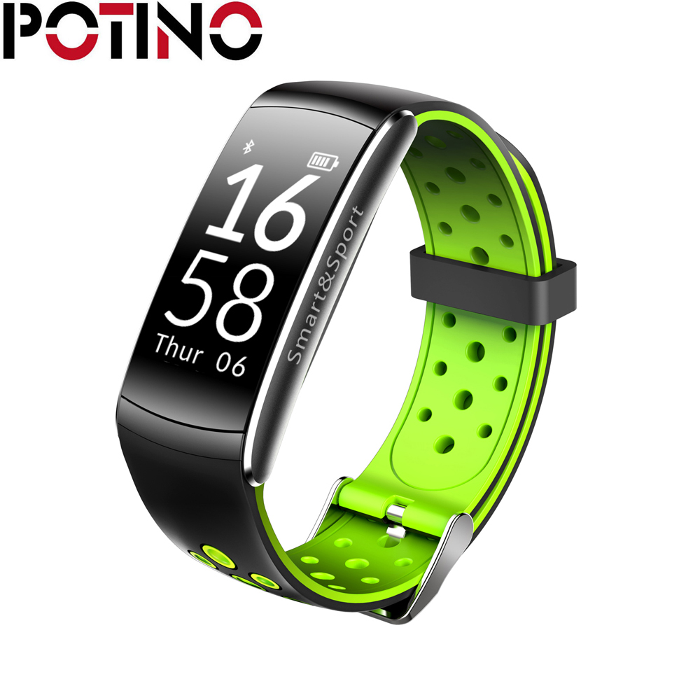 POTINO Q8 Smart Bracelet Heart Rate Monitor Fitness Tracker Wristband IP68 Waterproof Monitor Sport Smartband for
