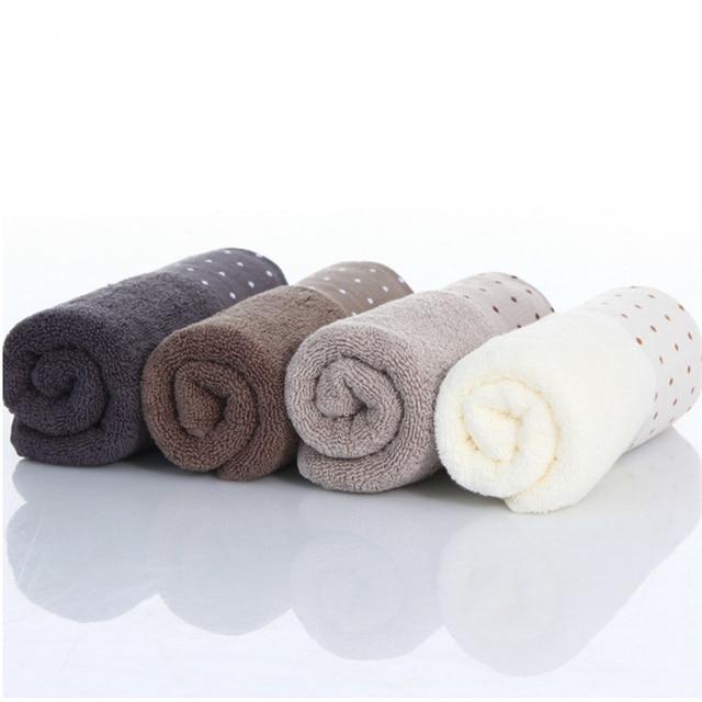 34x72 cm 100% Cotone Assorbente del Modello di Puntino di Colore Solido Morbida E Confortevole Delle Donne Degli Uomini di Bagno A Mano Viaggio Viso Asciugamano