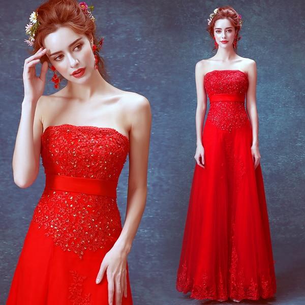 lace appliques beading hot sexy long 2018 new design a-line vestido de noiva longo party prom Formal gown   bridesmaid     dresses