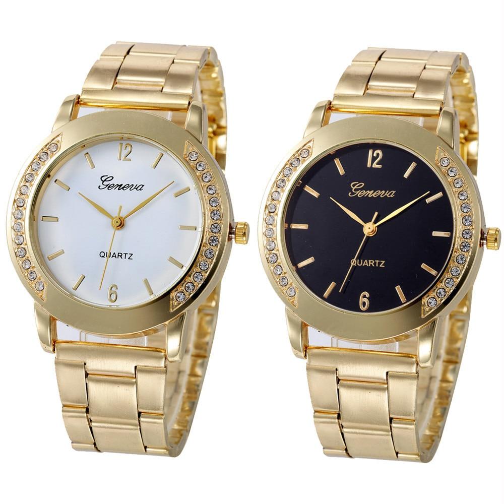 Gofuly New Fashion Watch Women Dress Watches Casual Stainless Steel Analog Quartz Women Ladies Rhinestone Wristwatch Girls Gifts