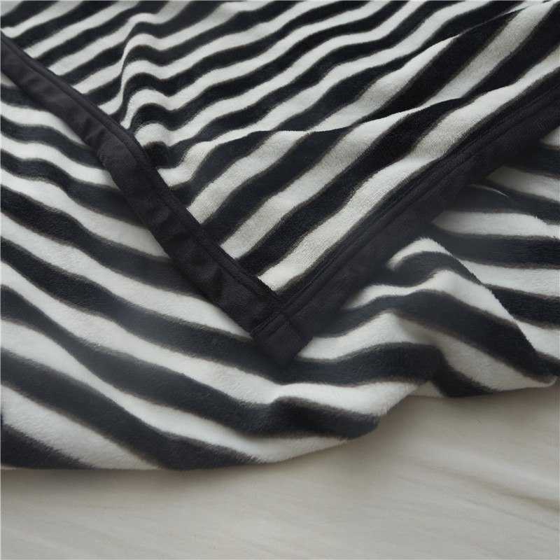 Black And White Stripes Japan Style Summer Throw Blankets Coral Simple Black And White Striped Throw Blanket