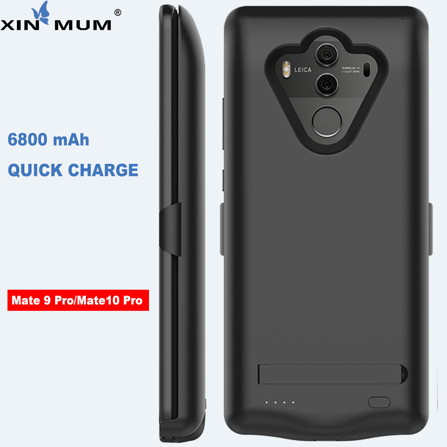 XIN-MUM 6800mAh Smart Battery Charger Case For Huawei Mate 10 Pro Mate 9 Pro Case Backup Cover PowerBank For Huawei Mate 9pro