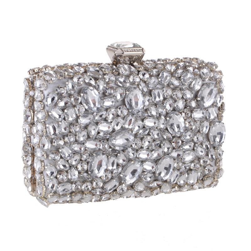 Strass pochette pour femmes sacs diamants dames mode sacs de soirée cristal mariage mariée sacs à main sac à main Mini sac à bandoulière - 4