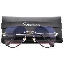 2019 New Luxury Pilot Sunglasses Women UV400 Retro Brand Designer Frameless Sun Glasses For Female Ladies Eyewear With Bag Top