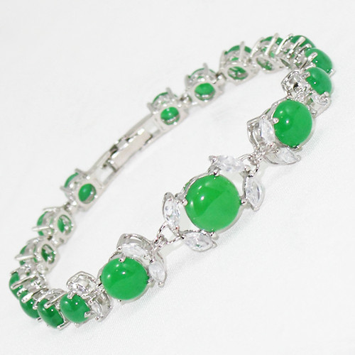 free shipping Wholesale Price ! White Green Bracelet-in Chain & Link  Bracelets from Jewelry & Accessories on Aliexpress com | Alibaba Group