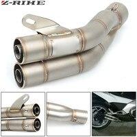 36 51mm Universal Motorcycle Double Exhaust Muffler Pipe For Honda CB600F CB 600 F cb600f Hornet CBR600F CBF600SA CB300F