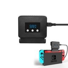 Disipador de calor con pantalla de temperatura para Nintendo Switch, Base superior del radiador, ventilador de refrigeración, accesorios para Nintendo Switch