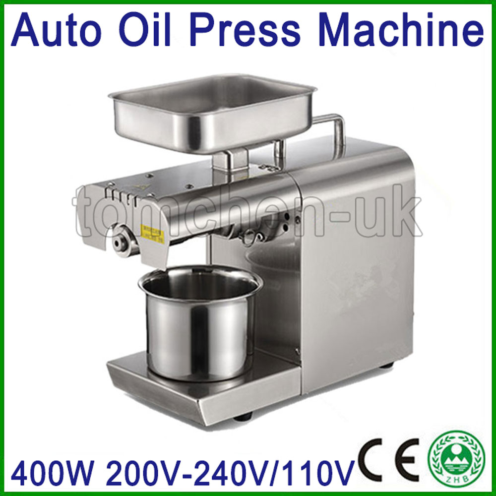 Automatic Oil Press Machine Electric Nuts Seeds Oil Presser Stainless Steel Oil Extraction Hot and Cold Pressing Machine idlamp 830 830 8pf whitechrome