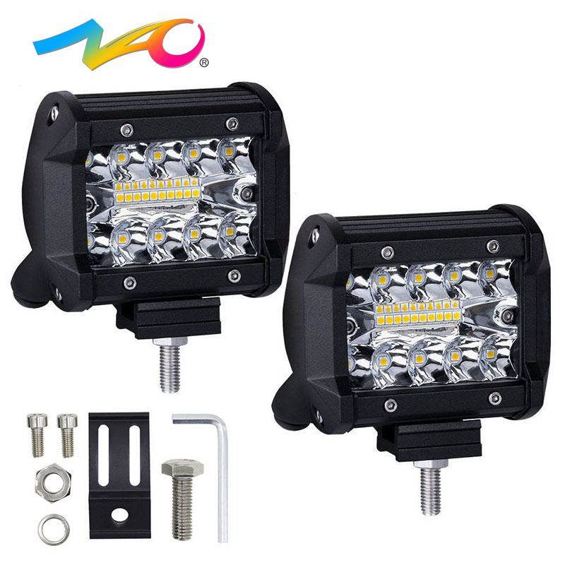 NAO LED bar led work light Combo led light bar beam 4x4 offroad for Jeep SUV ATV 12V 24V off road 60W car Motorcycle Truck 4inch auxbeam 54 312w 5d cree led light bar combo curved offroad led bar 2pcs 60w 5 led driving light for jeep truck atv suv
