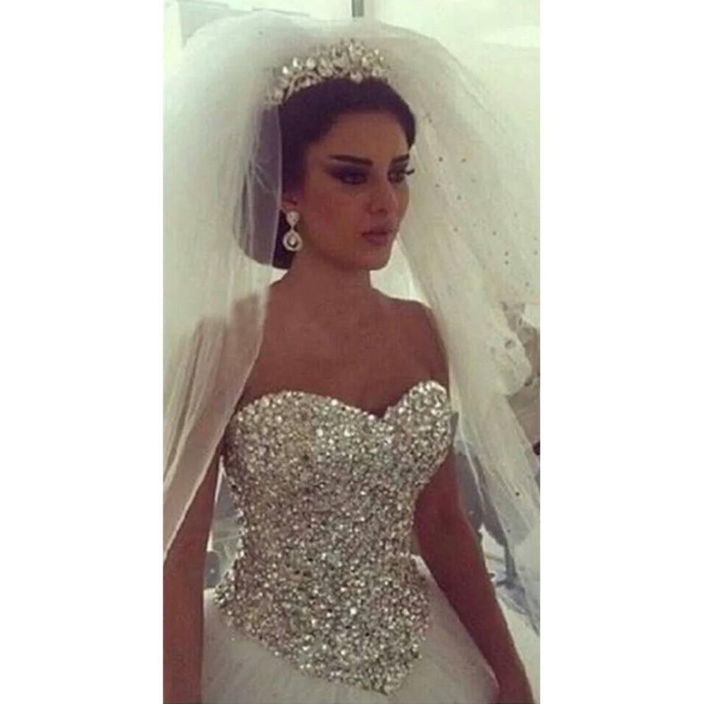Rhinestone Top Wedding Dress