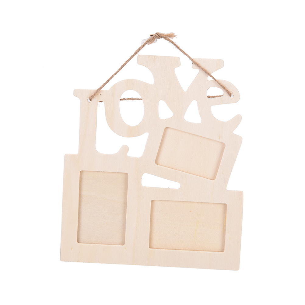 New 1pc love wooden photo frame with 3 wood picture frame for Home interiors and gifts framed art