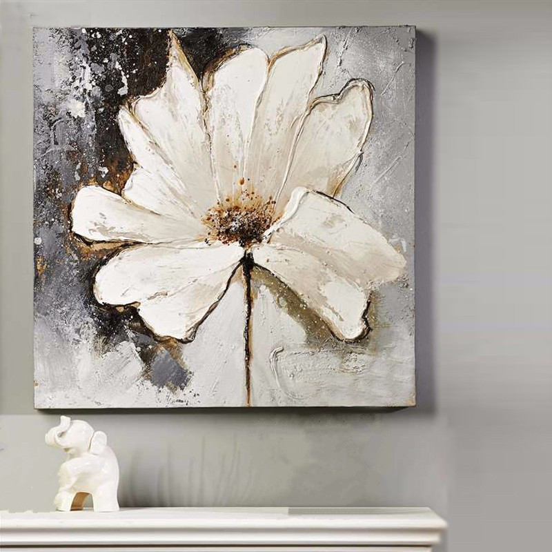 Handpainted Acrylic Floral Paintings Home Decoration Wall ...