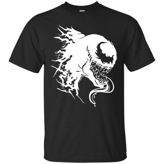 Preto Marinha T-Shirt Engraçado-Spiderman Venom Marvel-Unisex Xmas Tee Curto