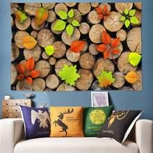 Искусство объемной стены под дерево