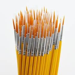 10 шт./компл. длинный хвост nylonhair крюк линия ручка, кисть для рисования детей DIY товары для рукоделия инструмент искусство канцелярские ручка
