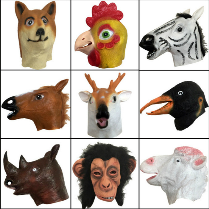 Anime Cosplay for Animal Zebra Chimpanzee Deer Funny Head Cover Vestidos Costume Fpr Adult in Halloween Carnival Party