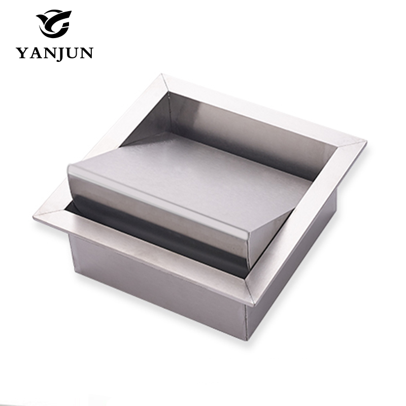 Yanjun Recessed Stainless Steel Trash Decorative Cover Garbage cover Public Bathroom Shelves YJ-7603 стиральная машина узкая lg f12u1hbs4