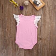 0-24M Newborn Baby Girl  Angel Wing Sleeve Cotton Romper