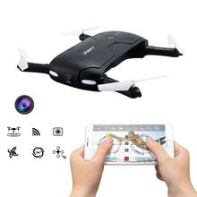 Mini plegable de bolsillo selfie drone con cámara quadcopter fpv wifi teléfono mosca helicóptero de control rc drone jjrc h37