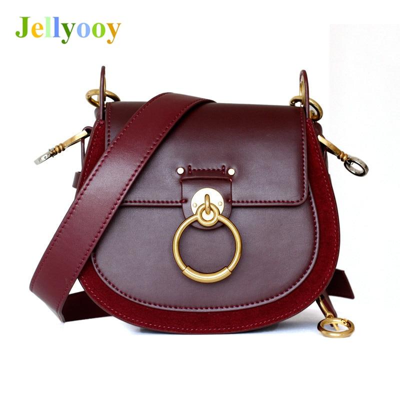 8341abfd6e03 Роскошный бренд 100% Натуральная воловья кожа женские сумки хит цвет сумки  на плечо известный дизайнер