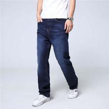 Новая мода Рваные джинсы для Для мужчин Повседневное синие Прямые